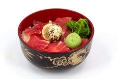 Sashimi con riso Immagine Stock Libera da Diritti