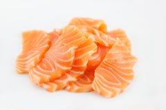 Sashimi cru saumoné sur le blanc photographie stock libre de droits