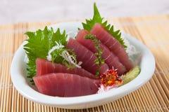Sashimi d'Akami (thon) Image libre de droits