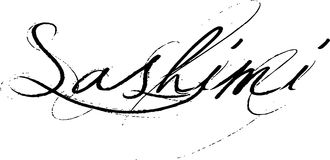 Sashimi da palavra Fotos de Stock Royalty Free