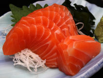Sashimi de color salmón Imagen de archivo