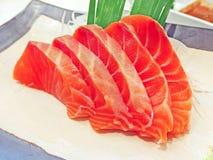 Sashimi de color salmón Foto de archivo