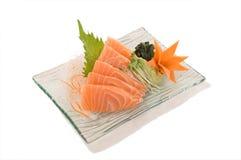 Sashimi de color salmón de color salmón 5pcs de SashimiFresh Noruega. Foto de archivo