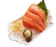Sashimi de color salmón fresco aislado Foto de archivo