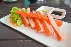 Sashimi de Kani Foto de Stock