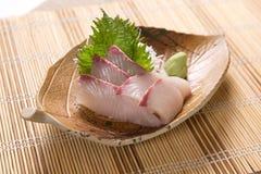 Sashimi de Kanpachi (séricole) Photos stock