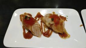 Sashimi de la comida de Japón delicioso fotografía de archivo