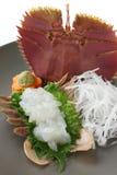 Sashimi de la langosta del ventilador, alimento japonés Foto de archivo