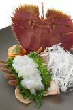 Sashimi de langoustine de ventilateur, nourriture japonaise Photo stock