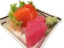 Sashimi de sushi et de thon Image stock