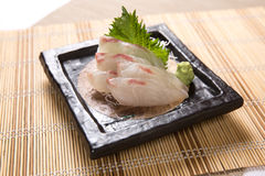 Sashimi de Tai (dorade) Photos stock