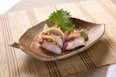 Sashimi de Tako (poulpe) Photographie stock libre de droits