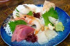 Sashimi dei frutti di mare della miscela Fotografia Stock