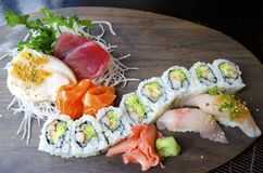 Sashimi dei sushi Fotografia Stock Libera da Diritti