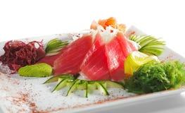 Sashimi del atún Imágenes de archivo libres de regalías