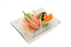 Sashimi del cangrejo de la nieve Fotografía de archivo