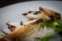 Sashimi del polipo al ristorante giapponese Immagine Stock Libera da Diritti