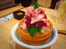 Sashimi del tonno della miscela Immagini Stock