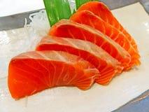 Sashimi di color salmone Immagine Stock