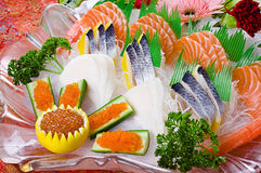 Sashimi di color salmone dei pesci Immagine Stock
