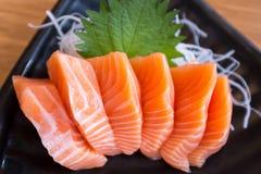 Sashimi di color salmone fresco Fotografia Stock