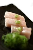 Sashimi on Dish with Scallions Stock Photography