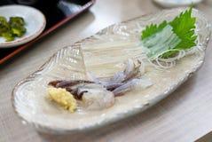 Sashimi do calamar Imagens de Stock