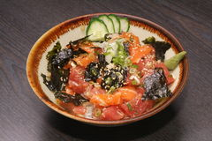 Sashimi DON rice Stock Image