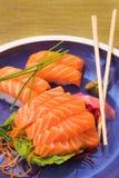 Sashimi e sushi freschi di nigiri Fotografie Stock