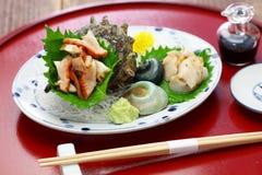 Sashimi för Sazae horned turbanskal Royaltyfria Foton