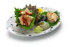 Sashimi för Sazae horned turbanskal Arkivfoton