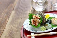 Sashimi för Sazae horned turbanskal Arkivbild