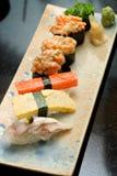 Sashimi with fish and shrimp eggs Royalty Free Stock Image