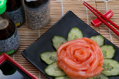 Sashimi flower japan food Royalty Free Stock Photos