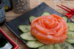 Sashimi flower japan food Stock Photo