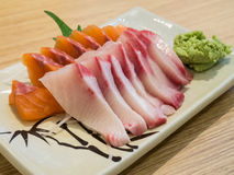 Sashimi hamachi and salmon Stock Photography