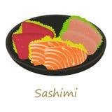 Sashimi icon, cartoon style Royalty Free Stock Photo