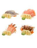 Sashimi isolato su bianco Fotografia Stock