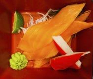 Sashimi ist ein empfindliches japanisches Lebensmittel stockfoto
