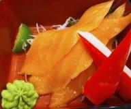 Sashimi ist ein empfindliches japanisches Lebensmittel stockbild