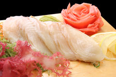Sashimi izumitai on a board closeup Royalty Free Stock Photos