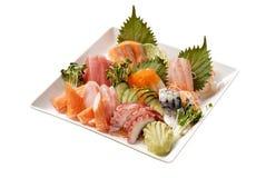 Sashimi. Japanese Sashimi dish isolated on background royalty free stock images
