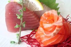 Sashimi 3. Japanese sashimi set consisting of salmon, tuna and hamachi Stock Images