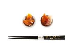 Sashimi japansk kokkonst. Royaltyfria Bilder