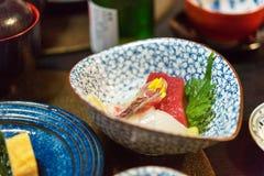 Sashimi - Japoński naczynie, Tokio, Japonia Zakończenie fotografia royalty free