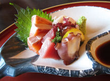 Sashimi japonés Imagenes de archivo