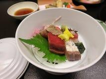 Sashimi japonês saboroso Fotografia de Stock