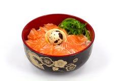 Sashimi med rice Arkivbild
