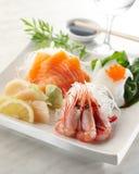 Sashimi mix. Delicious mixed sashimi with prawn and salmon stock photo