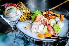 Sashimi Moriawase 3 tipos do sashimi Foto de Stock Royalty Free